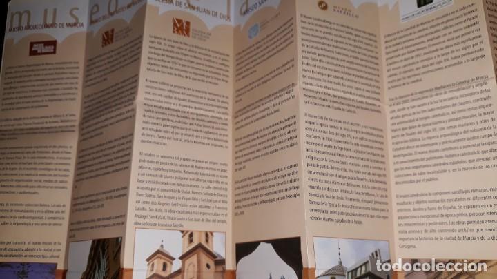 Folletos de turismo: MUSEOS REGIÓN MURCIA ARQUELOGÍA MÚSICA ARTES CIGARRALEJO MULA CATEDRAL SALZILLO MULA BARRANDA SAN JU - Foto 4 - 194620985