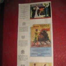 Folletos de turismo: ANTIGUO PAPEL CARTA HOTEL REX MADRID PUBLICIDAD DE LA CIUDAD TOROS MANOLETE. Lote 194690260