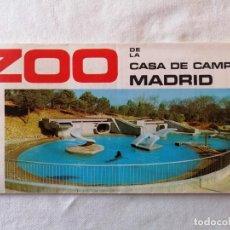 Folletos de turismo: ANTIGUO FOLLETO PLANO MAPA GUÍA TURISTICO ZOO DE LA CASA DE CAMPO MADRID 1972 / 60 X 45 CENTÍMETROS. Lote 194716198