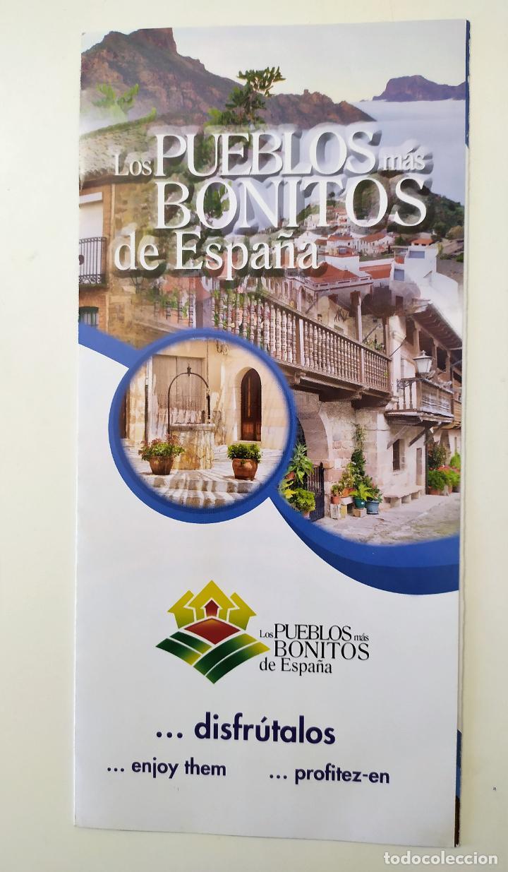 TRIPTICO LOS PUEBLOS MAS BONITOS DE ESPAÑA (Coleccionismo - Folletos de Turismo)