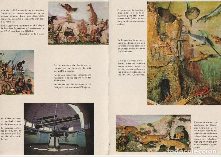 Folletos de turismo: FOLLETO DIPTICO LOS MUSEOS DE EL CARMEN ONDA CASTELLON 1962 -- -R- 5 - Foto 2 - 194872610