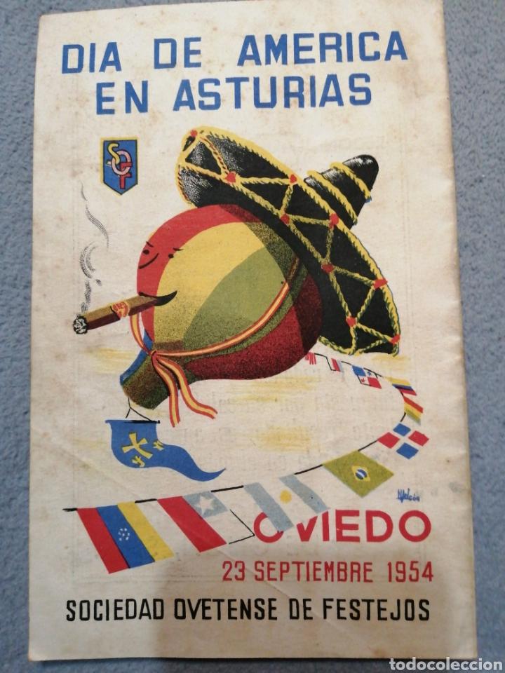 Folletos de turismo: Fiestas de San Mateo Oviedo septiembre 1954 sociedad ovetense de festejos - Foto 2 - 194894670