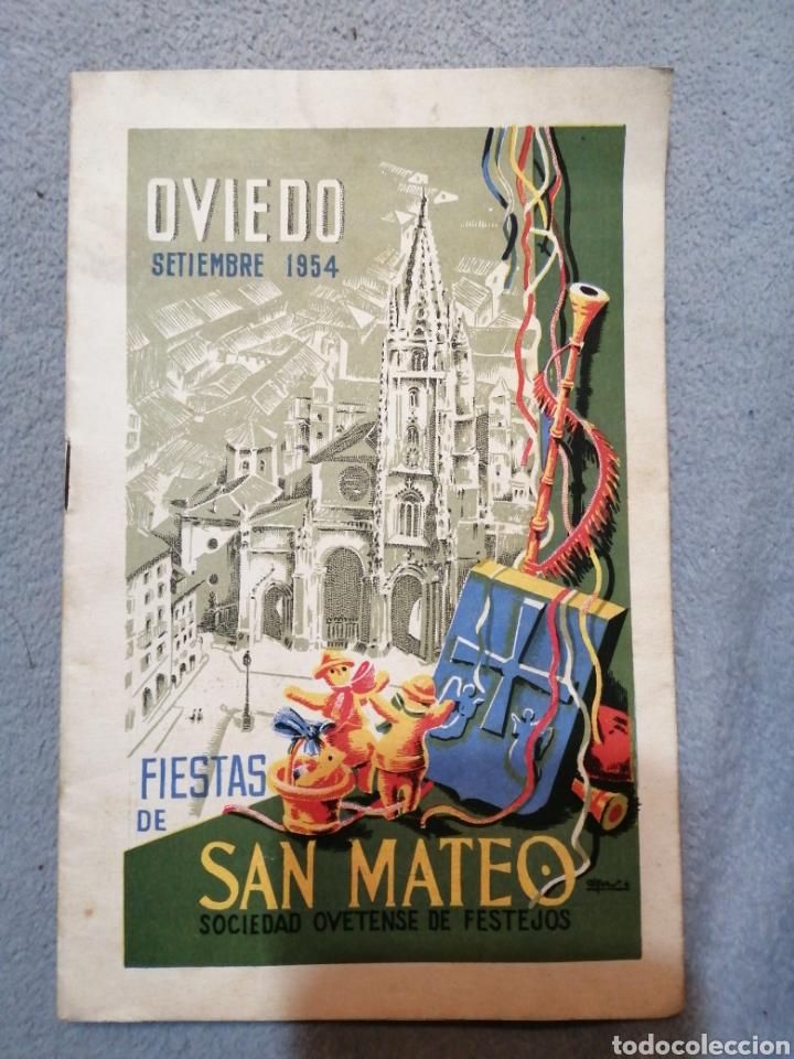 FIESTAS DE SAN MATEO OVIEDO SEPTIEMBRE 1954 SOCIEDAD OVETENSE DE FESTEJOS (Coleccionismo - Folletos de Turismo)
