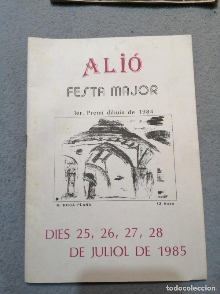 ALIÓ FESTA MAJOR 1984-85 (Coleccionismo - Folletos de Turismo)