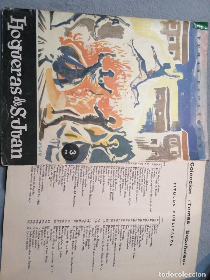 TEMAS ESPAÑOLES HOGUERAS DE SAN JUAN (Coleccionismo - Folletos de Turismo)