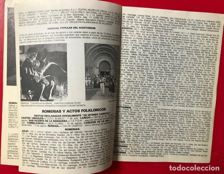 Folletos de turismo: Guía calendario de manifestaciones interés turístico de CANTABRIA 1979 - música - folklore - deporte - Foto 2 - 194901250
