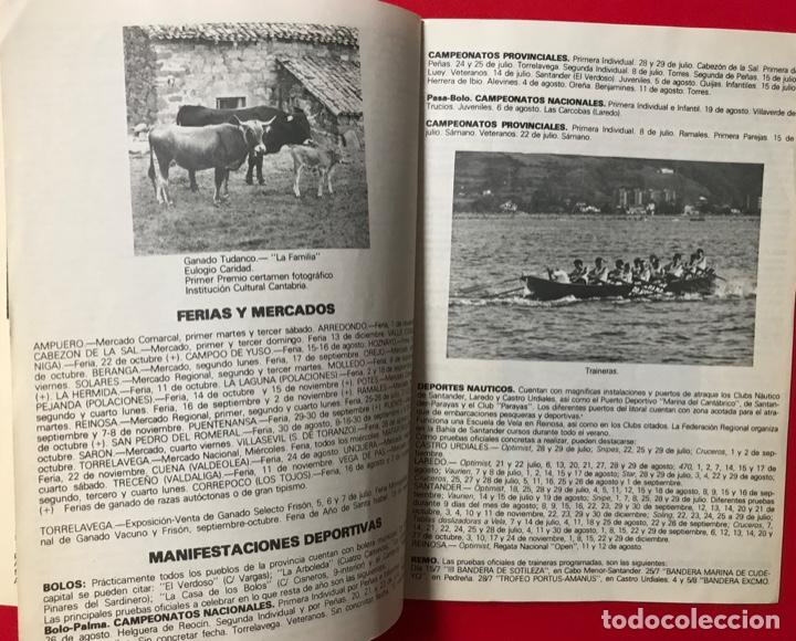 Folletos de turismo: Guía calendario de manifestaciones interés turístico de CANTABRIA 1979 - música - folklore - deporte - Foto 3 - 194901250