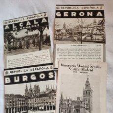Folletos de turismo: LOTE FOLLETOS TURISMO ESPAÑA REPUBLICA ESPAÑOLA PRE GUERRA CIVIL.PATRONATO NACIONAL DE TURISMO.BURGO. Lote 194922112