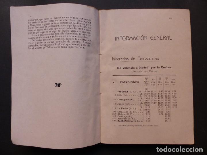 Folletos de turismo: GUIA DE VALENCIA - AÑO 1909, II Congreso de la Asociación Española para el Progreso de la Ciencias - Foto 5 - 194945707
