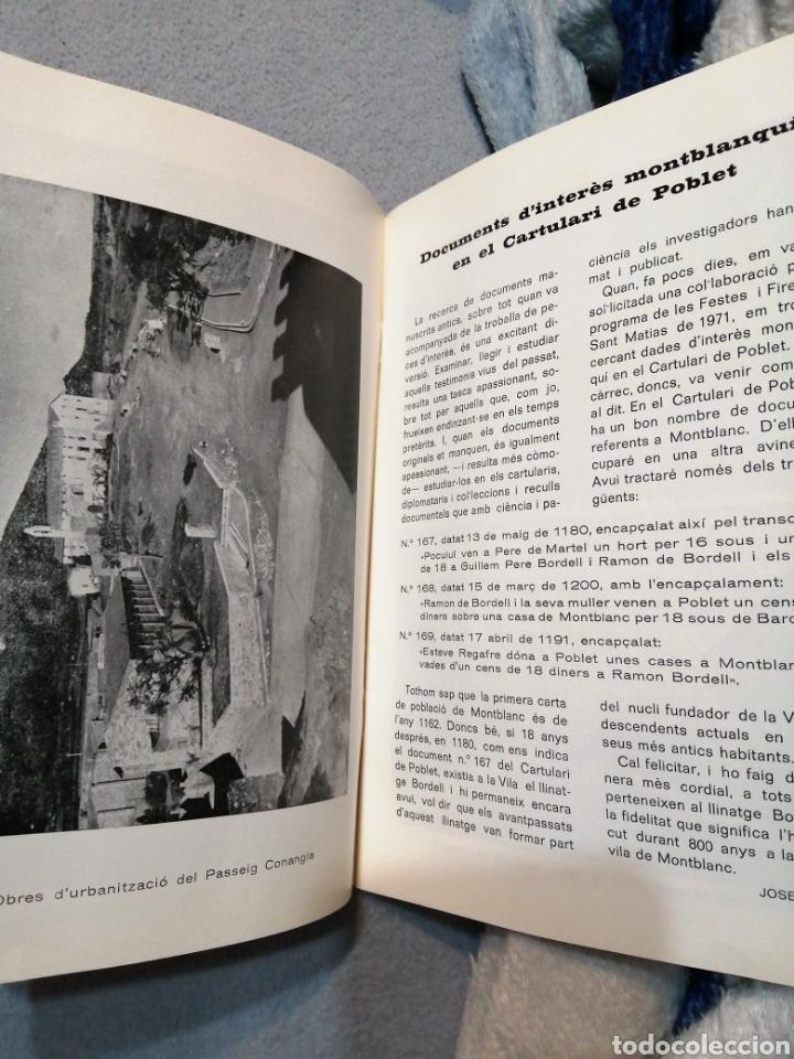 Folletos de turismo: MONTBLANC FIESTAS Y FERIAS DE SAN MATIAS AUTOR:REQUESENS - Foto 2 - 194960665