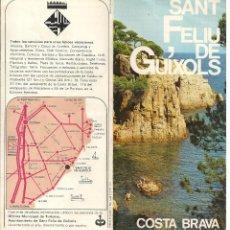 Folletos de turismo: FOLLETO TRIPTICO SANT FELIU DE GUIXOLS - COSTA BRAVA, AÑO 1971. Lote 194990183