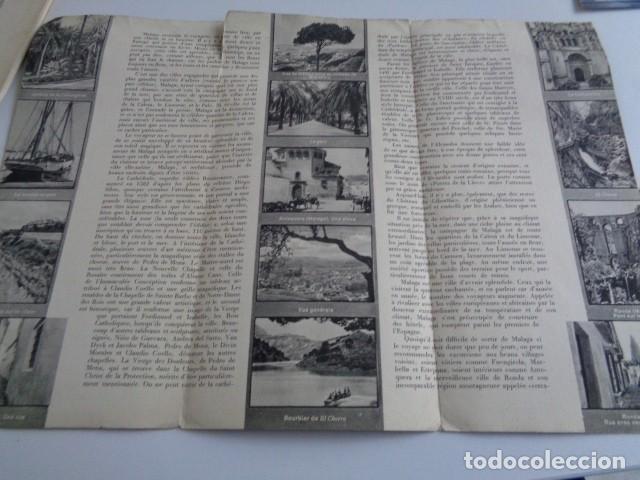 Folletos de turismo: MALAGA. PUBLICIDAD AÑOS 30. PATRONATO NACIONAL DE TURISMO. EN FRANCÉS - Foto 2 - 195080541