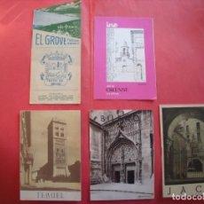 Folletos de turismo: EL GROVE.-ORENSE.-TERUEL.-BILBAO.-JACA.-LOTE DE 5 GUIAS TURISTICAS.-TURISMO.. Lote 195106818