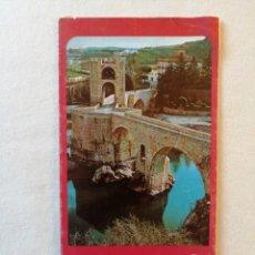 Folletos de turismo: ANTIGUO FOLLETO TURISTICO DE BESALU HISTORICA I Y MONUMENTAL GERONA GIRONA EN ESPAÑOL Y ALEMAN 1981 . Lote 195136245