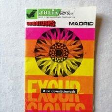 Folletos de turismo: ANTIGUO FOLLETO GUIA LIBRO TURISTICO TURISMO DE VIAJES MARSANS UNIONTOURS JULIA TOURS MADRID 1973. Lote 195145050