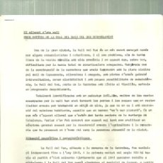 Folletos de turismo: 579.- BREU NOTIVIA DE LA VALL DEL BAC I DEL SEU DESPOBLAMENT - LA GARROTXA - . Lote 195215953