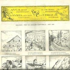 Folletos de turismo: 3631.- AUCA SENSE PRETENSIONS DE NURIA I ELS SEUS CONTORNS - DIBUIXA JOAQUIM MUNTAÑOLA ANY 1961. Lote 195253031