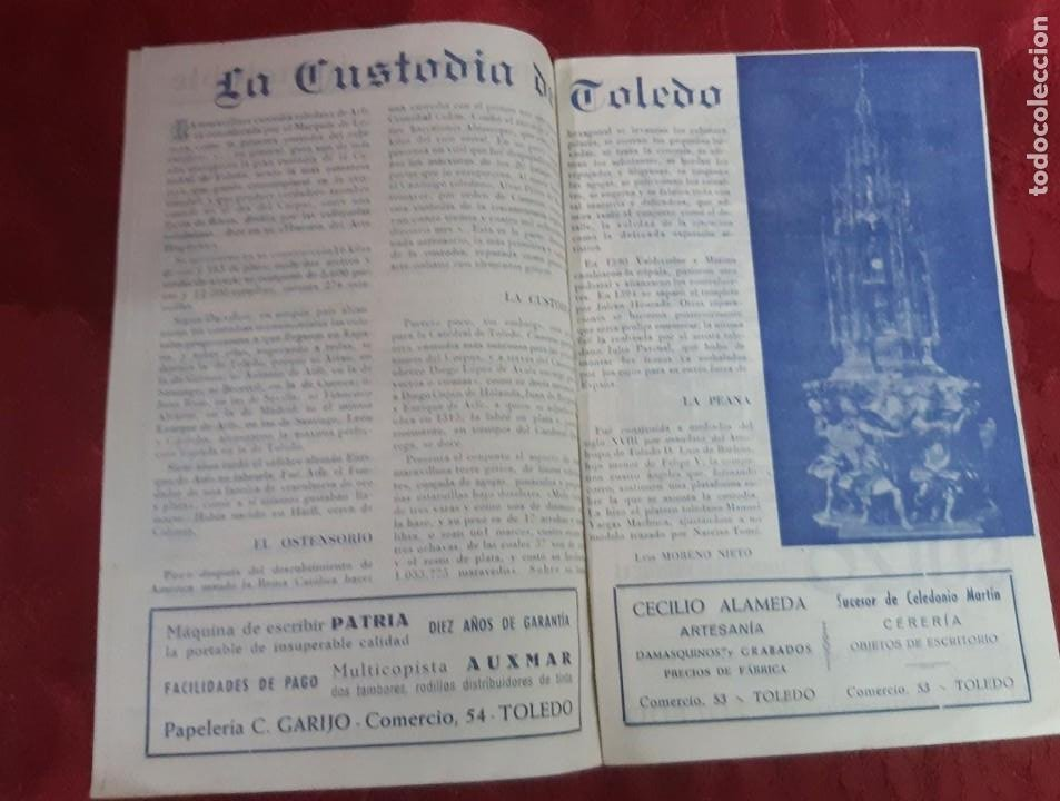 Folletos de turismo: LIBRO FOLLETO CORPUS CHRISTI DE TOLEDO 1952 DE 14 PAGINAS - Foto 3 - 195261973