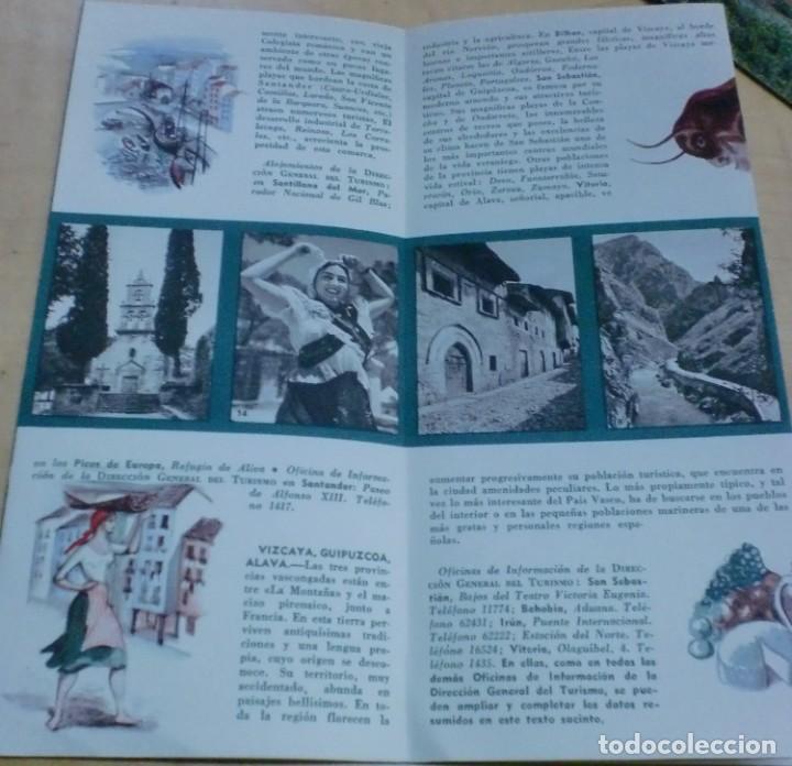 Folletos de turismo: FOLLETO TURISMO EL NORTE DE ESPAÑA DIRECCIÓN GENERAL DE TURISMO AÑOS 60 - Foto 2 - 195300868