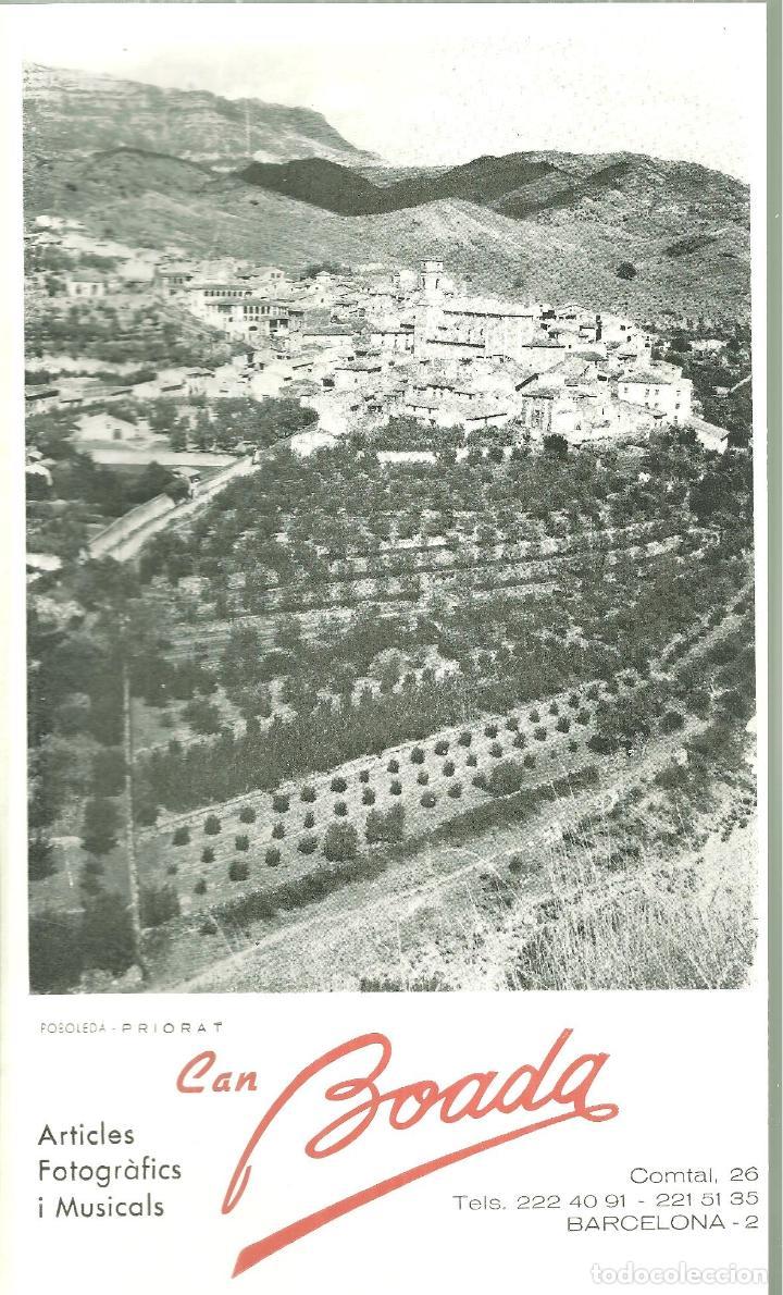 3631.- POBOLEDA PRIORAT - FOTOGRAFIA AMB PUBLICITAT DE CAN BOADA ARTICLES FOTOGRAFICS (Coleccionismo - Folletos de Turismo)