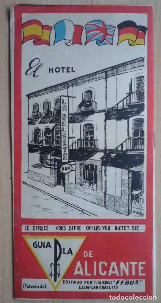 GUÍA DE ALICANTE CON PLANO E INFORMACIÓN TURÍSTICA (Coleccionismo - Folletos de Turismo)