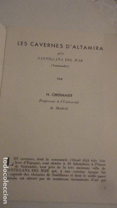 Folletos de turismo: LES CAVERNES D ALTAMIRA. SANTILLANA DEL MAR.CUEVAS DE ALTAMIRA.H.OBERMAIER. - Foto 2 - 195331193