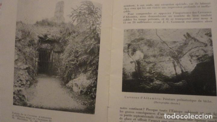 Folletos de turismo: LES CAVERNES D ALTAMIRA. SANTILLANA DEL MAR.CUEVAS DE ALTAMIRA.H.OBERMAIER. - Foto 3 - 195331193