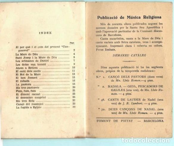 Folletos de turismo: FOLLETO DE FOMENT DE PIETAT CANÇONERET DE NADAL DEL AÑO 1956 - Foto 5 - 195422376