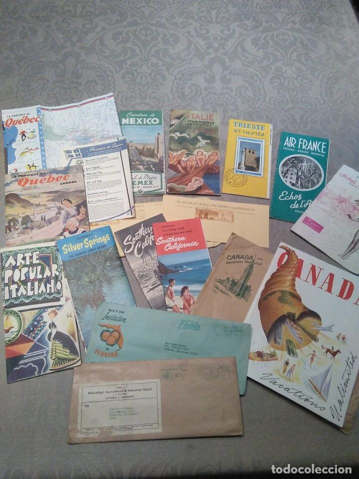 LOTE FOLLETOS DE TURISMO DE LOS AÑOS 50 MUY BIEN CONSERVADOS (Coleccionismo - Folletos de Turismo)