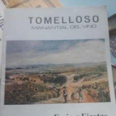 Folletos de turismo: REVISTA ANTIGUA TOMELLOSO FERIA Y FIESTAS 1981. Lote 195452586
