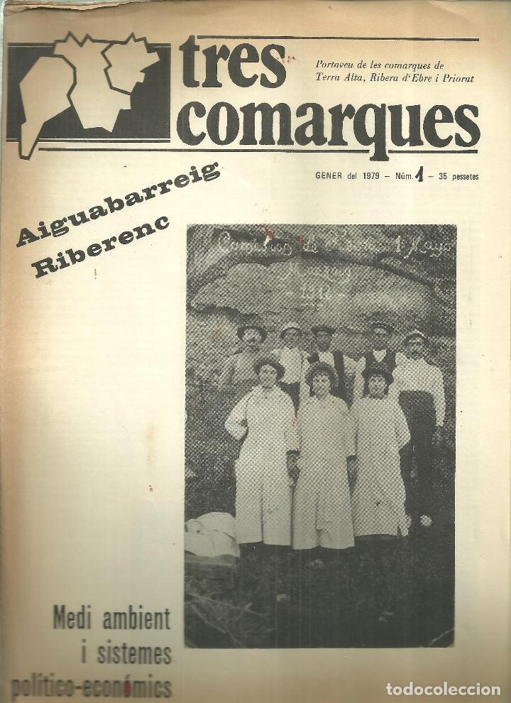 3631.-TRES COMARQUES PORTAVEU DE LA TERRA ALTA-RIBERA D`EBRE-PRIORAT-GENER 1979 Nº 1 (Coleccionismo - Folletos de Turismo)