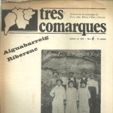 Folletos de turismo: 3631.-TRES COMARQUES PORTAVEU DE LA TERRA ALTA-RIBERA D`EBRE-PRIORAT-GENER 1979 Nº 1. Lote 195461400