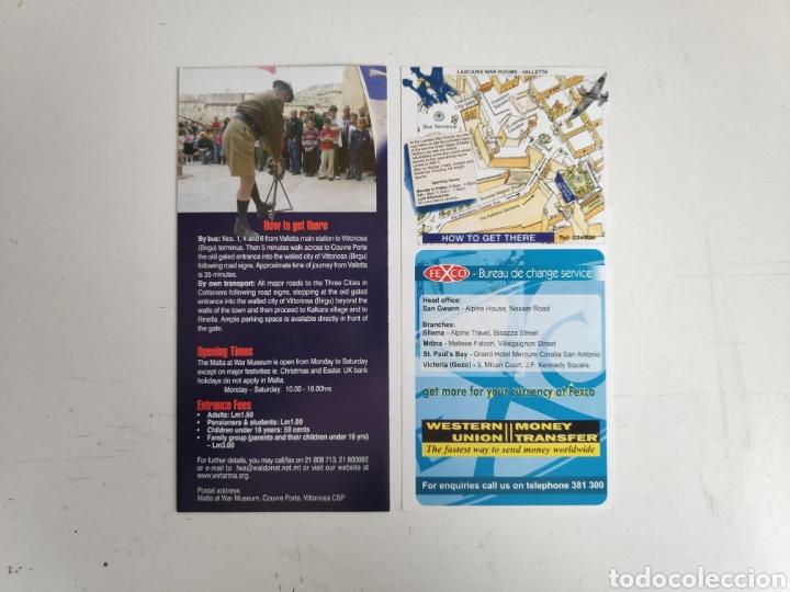 Folletos de turismo: Guia-folleto museo de Malta. Segunda guerra mundial - Foto 2 - 195467728