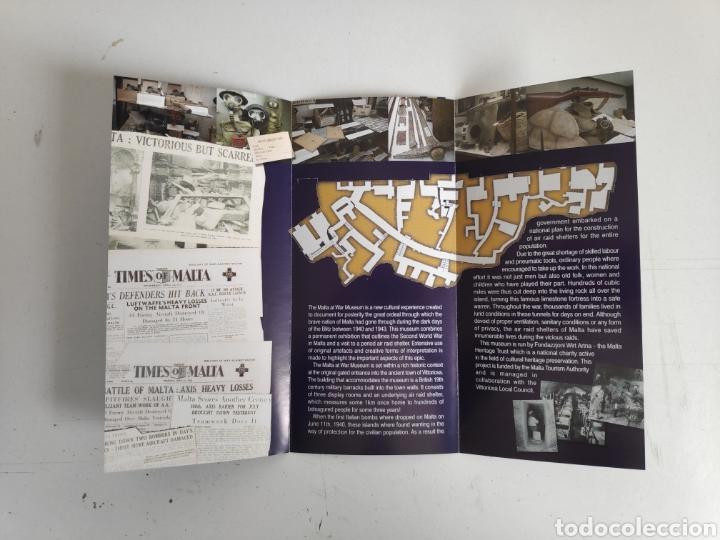 Folletos de turismo: Guia-folleto museo de Malta. Segunda guerra mundial - Foto 3 - 195467728