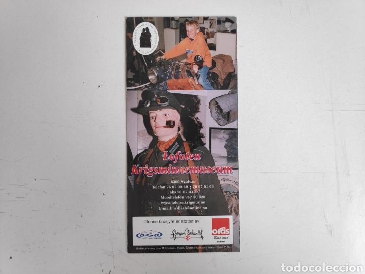 Folletos de turismo: Guia-folleto del museo Lofoten, Noruega. Segunda guerra mundial - Foto 2 - 195467952