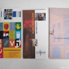 Folletos de turismo: GUIA-FOLLETO DEL MUSEO DE LA RESISTENCIA (VERZETSMUSEUM) DE AMSTERDAM. SEGUNDA GUERRA MUNDIAL.. Lote 195468318