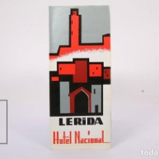 Folletos de turismo: FOLLETO TURÍSTICO - LERIDA HOTEL NACIONAL - AÑO 1961. Lote 195477851