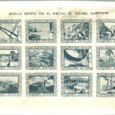 Folletos de turismo: 3631.-CAMPRODON VIÑETAS-SEGELLS EDITATS PER EL SINDICAT DE TURISME - CAMPRODON JOIER DEL PIRINEU. Lote 195489180