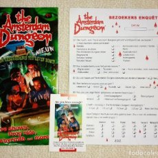 Folletos de turismo: BONITO FOLLETO DESPLEGABLE ATRACCIÓN DE TERROR THE AMSTERDAM DUNGEON. 2006. Lote 195509966