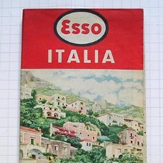 Folletos de turismo: ITALIA · ANTIGUO MAPA CARRETERAS ESSO STANDARD ITALIANA. 1957. Lote 195906522
