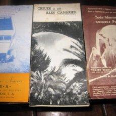 Folletos de turismo: 3 ANTIGUOS FOLLETOS TURISMO CATALOGO VIAJES MARSANS 1935 MALLORCA CANARIAS MARRUECOS. Lote 195908978