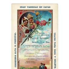 Folletos de turismo: CARTEL PUBLICIDAD. GRAN SASTRERÍA LA BANDERA. DE EZAQUIEL FERNÁNDEZ. MADRID.20,5X41.. Lote 196305230