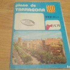 Folletos de turismo: PLANO CIUDAD TARRAGONA AÑO 1976. 93*63CM. Lote 197375346
