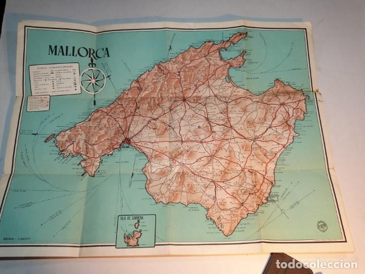 MAPA DE MALLORCA, EDICIONES PORAM DE PALMA, MUCHA PUBLICIDAD COMERCIAL (Coleccionismo - Folletos de Turismo)