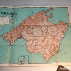 Folletos de turismo: MAPA DE MALLORCA, EDICIONES PORAM DE PALMA, MUCHA PUBLICIDAD COMERCIAL. Lote 197481468