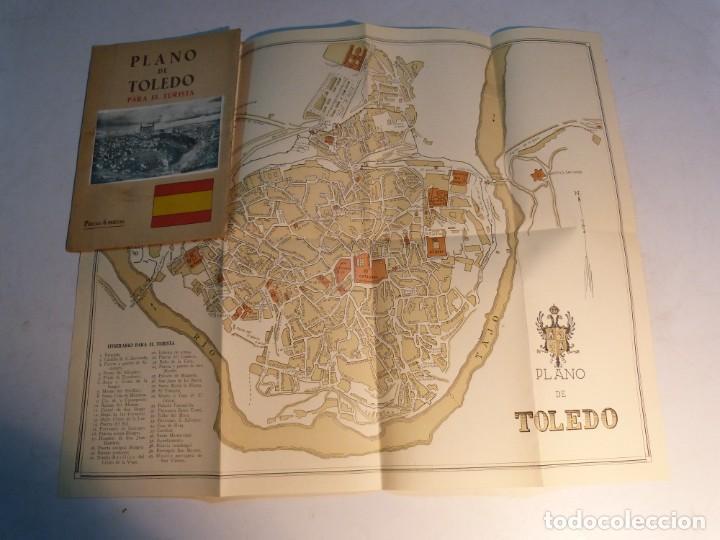 PLANO DE TOLEDO PARA EL TURISTA (Coleccionismo - Folletos de Turismo)