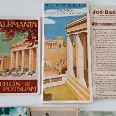 Folletos de turismo: GRAN LOTE DE 64 FOLLETOS TURISMO ALEMANIA. RAROS E INTERESANTES. 1936. VER FOTOS. W. Lote 197818338
