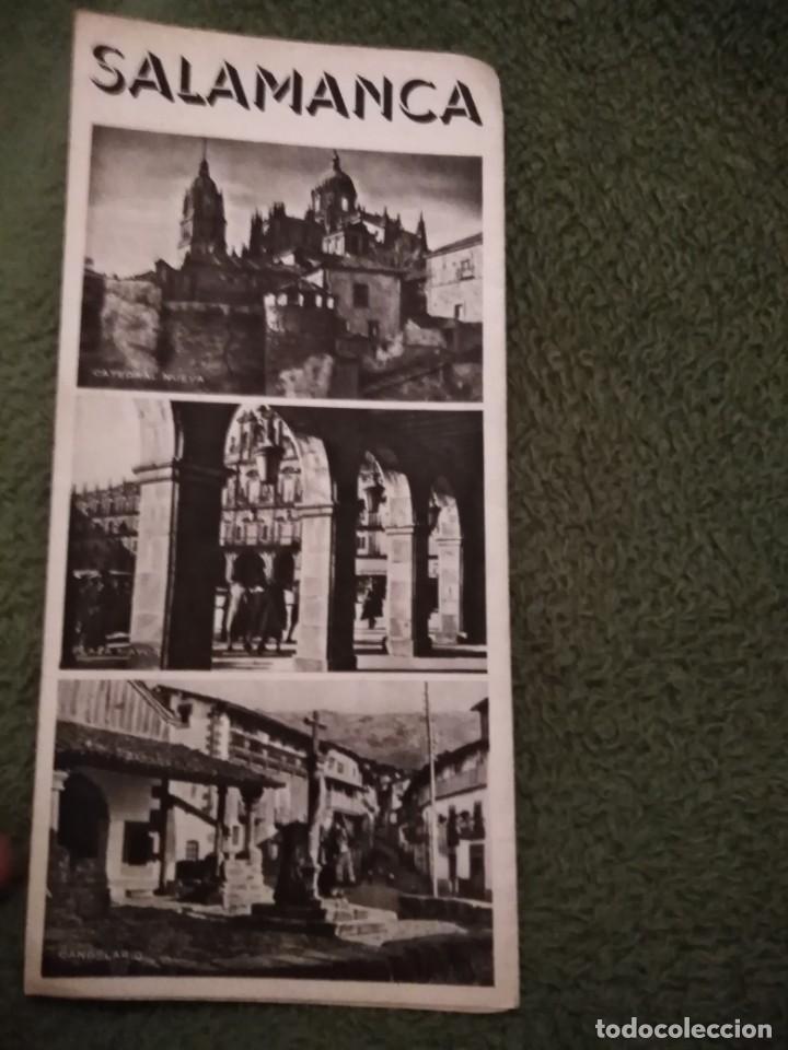 ANTIGUO FOLLETO TURISTICO SALAMANCA (Coleccionismo - Folletos de Turismo)