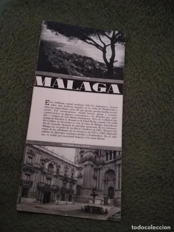 Folletos de turismo: antiguo folleto turistico malaga alguna fisura - Foto 1 - 198550045