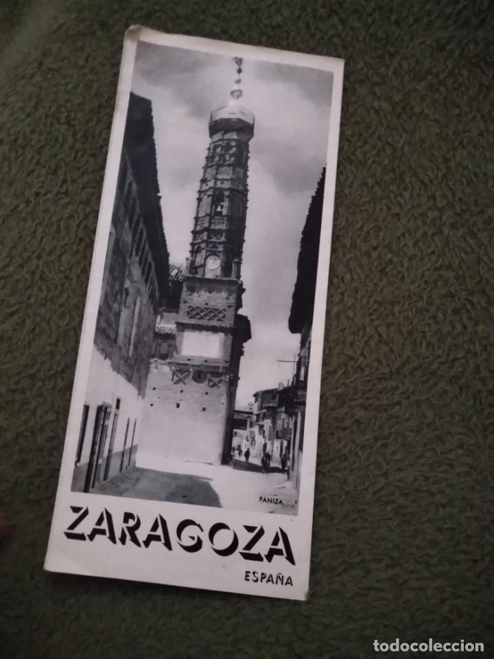ANTIGUO FOLLETO TURISTICO ZARAGOZA (Coleccionismo - Folletos de Turismo)
